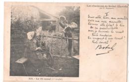 CP LES  CHANSONS DE BOTREL ILLUSTREES 314 LE FIL CASSE 1ER COUPLET  BRETAGNE (29 FINISTERE) - Musique