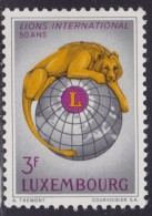 4867. Luxembourg 1966, 50th Anniversary Of Lions International, MNH (**) Michel 750 - Luxembourg