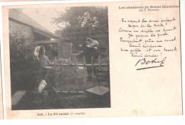 CP LES  CHANSONS DE BOTREL ILLUSTREES 314 LE FIL CASSE 7 COUPLET HAMONIC  BRETAGNE (29 FINISTERE) - Musique