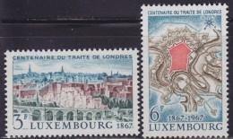 4869. Luxembourg 1967 The Second Treaty Of London, MNH (**) Michel 746-747 - Luxembourg