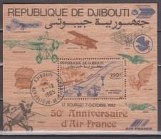Djibouti 1983,1V In WOOD Block,concorde,airplanes,vliegtuigen,flugzeuge,avions,avións,aerei ,Used/Gestempeld(L2585) - Vliegtuigen