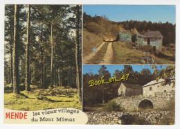{74018} 48 Lozère Mende , Paysages Du Mont Mimat , Multivues ; Les Vieux Village Du Mont Mimat - Mende
