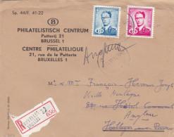 Baudouin Timbre De Service / Lettre Recommandée Vers Hollogne Aux Pierres Redirigée Vers Angleur - 1953-1972 Brillen