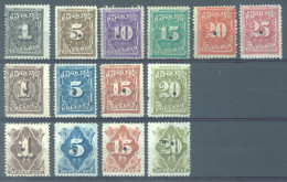 USA -  MLH/* - 1881 -TELEGRAM COLLECT DUPLICATE - Yv 52-67 NOT COMPLETE  - Lot 14483 - Unused Stamps