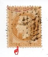 YT 28A - Napoléon - Variété Parasite - Etoile 1 + CAD Rouge + Grille Ou Oblitération étrangère (?) - CURIEUSE !!! - 1863-1870 Napoleone III Con Gli Allori