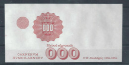 """DENMARK 000 Typ A"" Werbenote, Probedruck, Testnote, Trial, RRRRR, Intaglio,  UNC, Ca. 140 X 72 Mm, Rot - Dänemark"