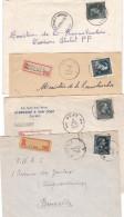 - 10 % 4 Enveloppes RECOMMANDE De Chenee Bierset Awans Bertrix Et Gent 2 - 1946 -10%