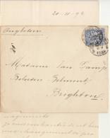 ESC N°50 O. Bruxelles -> Angleterre Brighton 1894 - 1884-1891 Leopold II