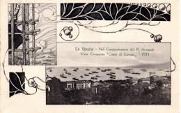 114  LA SPEZIA - VARO CORAZZATA CONTE DICAVOUR - FP VIAGGIATA 10.8.1911  RARA - La Spezia