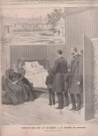 LE JOURNAL ILLUSTRE 13 10 1895 - MORT DE LOUIS PASTEUR GARCHES - PARIS HALLE AUX POISSONS - SANATORIUM PORQUEROLLES - 1850 - 1899