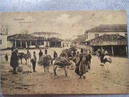 DURAZZO STRASENBILD . ANES TRANSPORTANT DU BOIS . USURES - Albanie