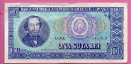 Billet De 100 LEI De 1966 - Série D.0036  515093 - Roumanie