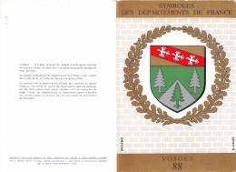 ¤¤   -  Carte Double  -  Symboles Des Départements De France  -  VOSGES  -  Blason , Héraldisme   -  ¤¤ - France