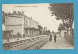 CPSM - Chemin De Fer Cheminots Gare PANNECOT 58 - France