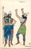 Pays Div - Ref G13- Petit Chromo -12,5 X 8cms - Veritable Dessin - Assyrie - Chromo Bon Etat  - - Non Classés
