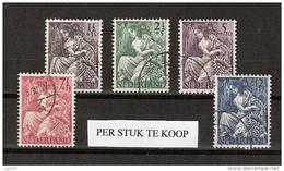 NVPH Nederland Netherlands Pays Bas Niederlande 449,450,451,452,453 Used ; Nationale Hulpzegels ALSO PER PIECE - Periode 1891-1948 (Wilhelmina)