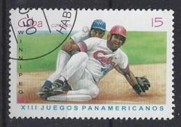 """Cuba  1999  Pan-American Games, """"Winnipeg`99""""  (o) Baseball - Cuba"""