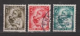 NVPH Nederland Netherlands Pays Bas 270, 271,272 Used; Kinderzegels,children Stamps Timbres D´enfants ALSO PER PIECE - Periode 1891-1948 (Wilhelmina)