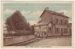 PIRMIL (Sarthe) - Ecoles Et Mairie. Dolbeau 3168 - Other Municipalities