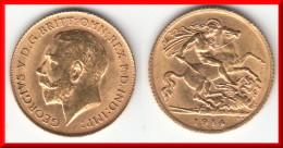 **** GRANDE-BRETAGNE - GREAT-BRITAIN - HALF-SOVEREIGN 1914 GEORGE V - OR - GOLD **** ACHAT IMMEDIAT !!! - 1902-1971 : Monnaies Post-Victoriennes