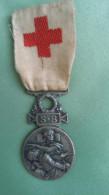 Médaille Croix Rouge S.B/ Sté Française De Secours Aux Blessés Militaires 1864/1866 - Medizinische Dienste