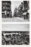 7663. LOT DE 10 CPA CPA PHOTO. 76 ROUEN. MONUMENTS AVANT ET APRES LES BOMBARDEMENTS. - Rouen