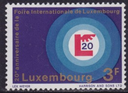 4871. Luxembourg 1968, 20 Years Of International Fair, MNH (**) Michel 774 - Luxembourg