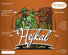 Czech Republic - Dark Beer HEJKAL, Minibrewery Belvder From Zelezna Ruda, Sel-adhesive - Beer