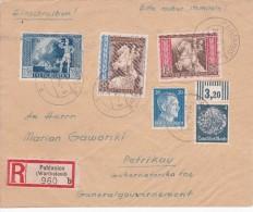 ALLEMAGNE LETTRE RECOMMANDEE  AVEC CACHET ARRIVEE PABIANICE 1942 - Deutschland