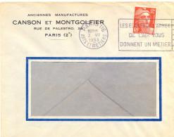 PARIS 116 ARTS ET METIERS OM FLIER Du 2.VII 1953 (avec H Dans HEURE) LES ECOLES DE L'ARMEE / DE L'AIR VOUS /... - Maschinenstempel (Werbestempel)