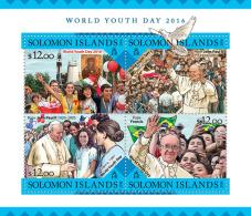 SOLOMON Isl. 2016 - World Youth Day, Dove - Pigeons & Columbiformes