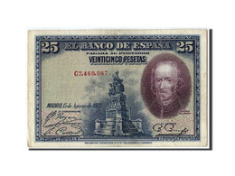 Espagne, 25 Pesetas, 1928, KM:74b, 1928-08-15, TTB - [ 1] …-1931 : Eerste Biljeten (Banco De España)