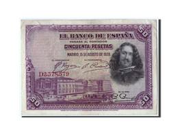 Espagne, 50 Pesetas, 1928, KM:75b, 1928-08-15, TB+ - [ 2] 1931-1936 : République