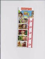 BELGIQUE - BELGIE Mijn Zegel DUOSTAMP  -  Strook Van 5 Postzegels TOY STORY 3 Geseald - Belgique