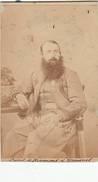"""Top-Moresnet - Tres Rare - Foto Originale 1862 Du Zouave : Capt. De Résimont De Moresnet """" Tres Rare - Plombières"""