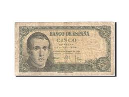 Espagne, 5 Pesetas, 1951, KM:140a, 1951-08-16, B+ - [ 3] 1936-1975 : Régence De Franco