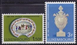 4876. Luxembourg 1967, 200th Anniversary Of Fayence, MNH (**) Michel 754-755 - Luxembourg