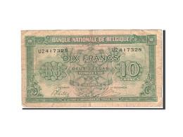 Belgique, 10 Francs-2 Belgas, 1943-1945, KM:122, 1943-02-01, B - [ 2] 1831-... : Koninkrijk België