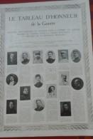WW1 Tableau D'Honneur De La Grande Guerre Supplément Journal L'illustration Environ 4500 Nom Cités - Sin Clasificación