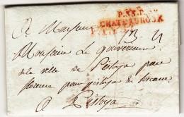 Pref. Periodo Napoleonico.Le Maire De La Ville De Chateauroux  Per Il Governatore Di Pistoia In Toscana Italie 1801 - Ohne Zuordnung