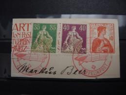 SUISSE - Timbres Sur Fragment Avec Oblitération Zeppelin - Pas Courant - A Voir - P20218 - Posta Aerea