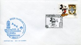 13184 Portugal, Special Postmark 2001,  Walt Disney,  Portimao, Micky Mouse - Disney