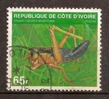Côte D´ivoire Yvert & Tellier N° 508E  Oblitéré Année 1979 Criquet Migrateur - Côte D'Ivoire (1960-...)