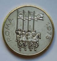 Large Medal 1978 - ROMA - CSIO - INTERNATIONAL COMPETITION HORSE - Piazza Di Siena - Professionnels/De Société