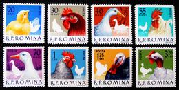 ANIMAUX DE BASSE-COUR 1963 - NEUFS ** - YT 1908/15 - MI 2145/52 - 1948-.... Republics