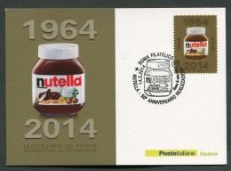 ITALIA - FDC CARTOLINA MAXIMUM CARD 2014 - 50° ANNIVERSARIO REALIZZAZIONE NUTELLA - 493 - Maximum Cards