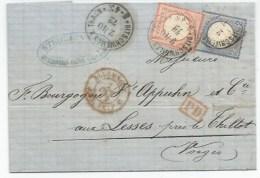C274 - Grenzrayon - BITSCHWEILER B. THANN Pour Les VOSGES - Timbre  0,5+2 Groschen - Rare Tarif Frontalier -BITSCHWILLER - Briefe U. Dokumente