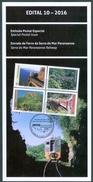 "BRAZIL 2016  -   Railroad Of The ""Serra Do Mar Paranaense""  -  EDICT #10 - Covers & Documents"