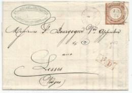 C275 - Grenzrayon - BITSCHWEILER B. THANN Pour Les VOSGES - Timbre  2,5 Groschen - Rare Tarif Frontalier - BITSCHWILLER - Briefe U. Dokumente