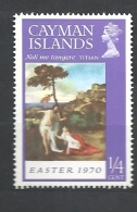"""CAYMAN ISLANDS 1970 Easter - Paintings """"Noli Me Tangere"""" By Titian MNH TIZIANO PAINTINGS - Cayman (Isole)"""